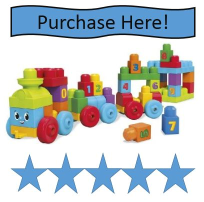 Mega Blok 1-2-3 Learning Train