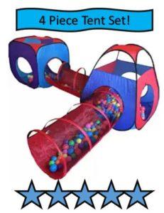 Playz 4 Piece Pop Up Children Play Tent