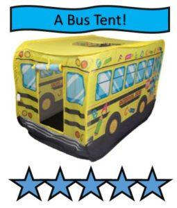 School Bus Kids Indoor and Outdoor Play Tent