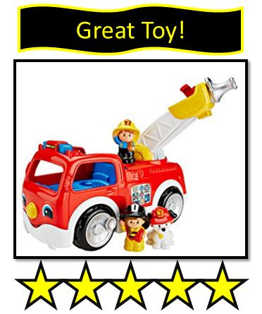 little people fire truck toy