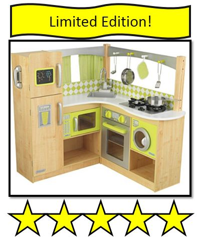 KidKraft Wooden Lime Green Corner Kitchen