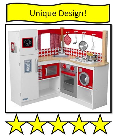KidKraft Wooden Red Corner Kitchen