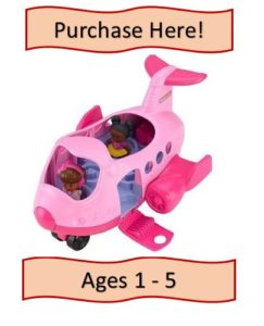 Pink Little People Toy Airplane
