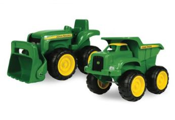 john deere sandbox toy truck and toy tractor