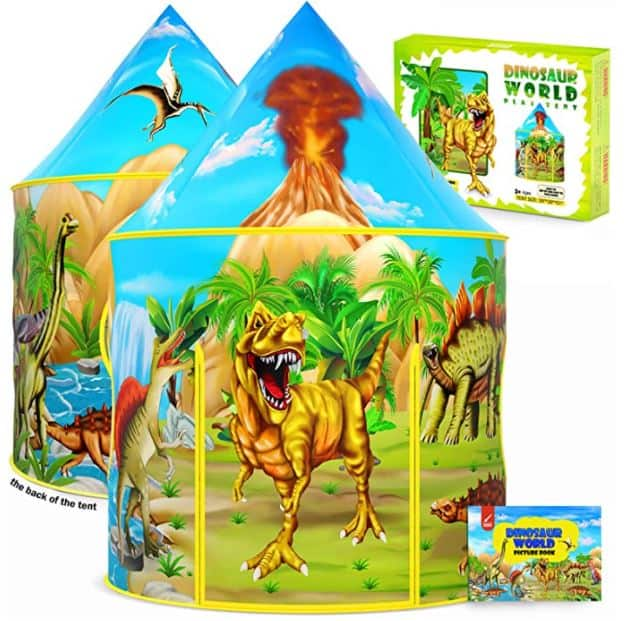 dinosaur themed kids indoor play tent