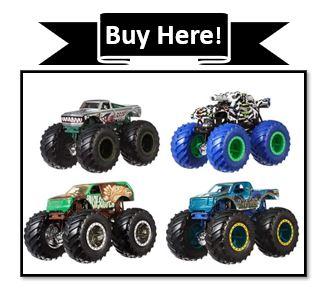 Hot Wheels Monster Truck Set of 4
