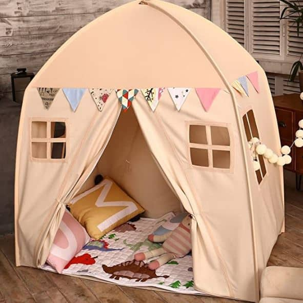Love Tree Kids Play Tent Castle Large Teepee Tent for Kids Portable Playhouse