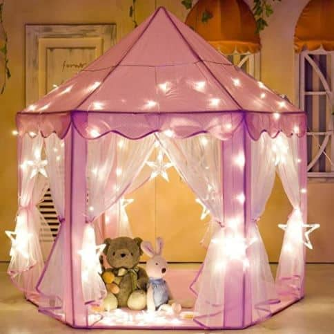 Porpora Kids Indoor/Outdoor Princess Castle Play Tent Fairy Princess