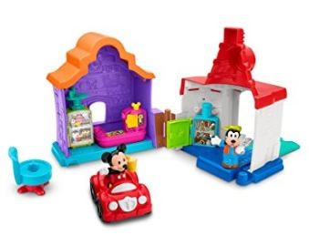Little People Mickey and Goofys Gas and Dine Playset toy