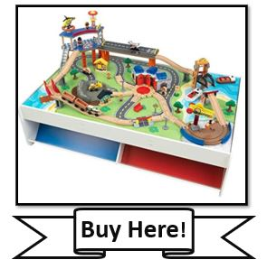 KidKraft Railway Express Wooden Train Set & Table