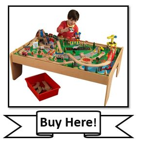 kidkraft waterfall mountain train set and table buy here