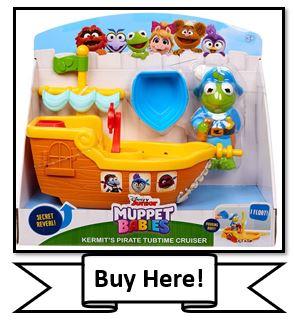 Muppet Babies Kermit's Pirate TubTime Cruiser