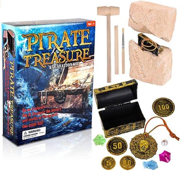 ArtCreativity Pirate Treasure Dig Kit for Kids