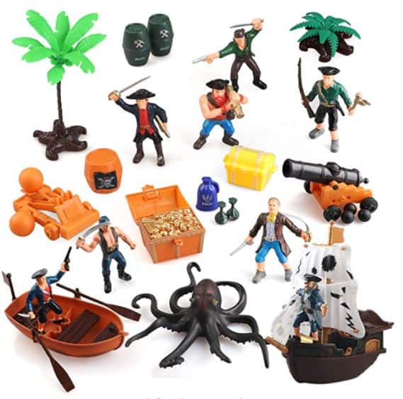 BeebeeRun Pirate Action Figures Pirate Toy