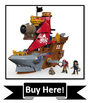 Fisher-Price Imaginext Shark Bite Pirate Ship - Best Pirate Toys