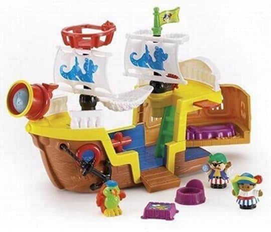 Little People Pirate Ship Toy - best toddler transportation toys reviewed