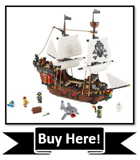 LEGO Creator 3in1 Pirate Ship toy reviewed - best pirate toy age 9+