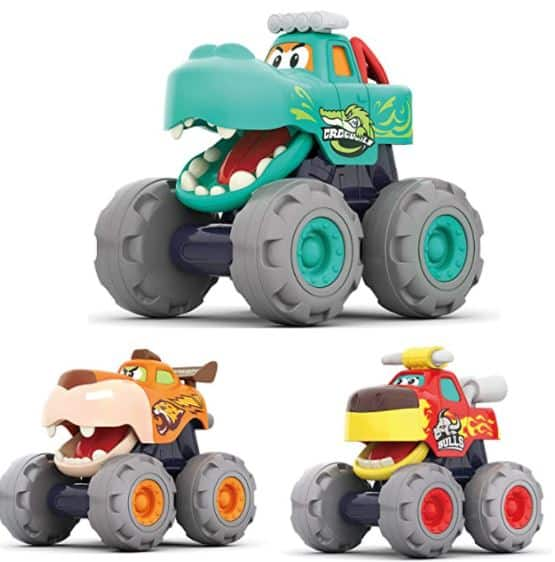 Moontoy push and go monster trucks