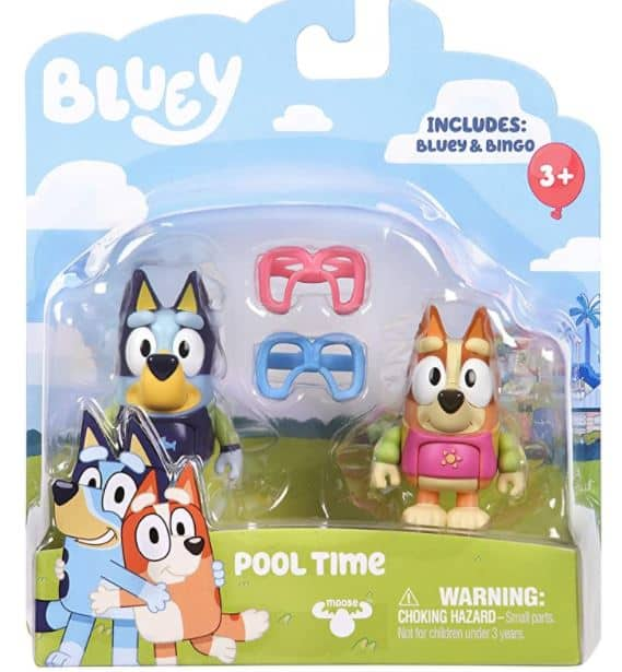 Bluey Pool Time Action Figures Set