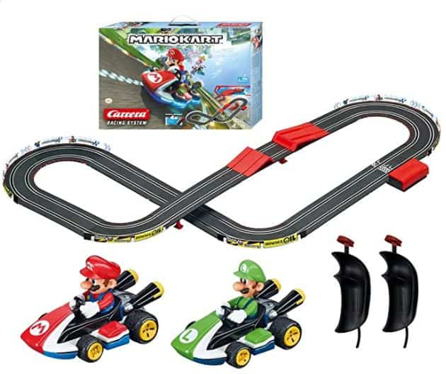 Carrera GO!!! 63503 Official Licensed Mario Kart Battery Operated 1:43 Scale Slot Car Racing Toy Track Set