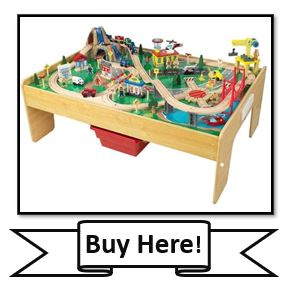 KidKraft Adventure Town Railway Train Set & Table with EZ Kraft Assembly- best train tables from KidKraft
