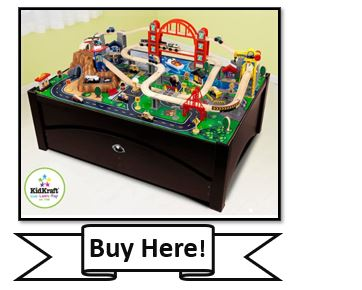 KidKraft Metropolis Train Table & Set - best wooden train track sets