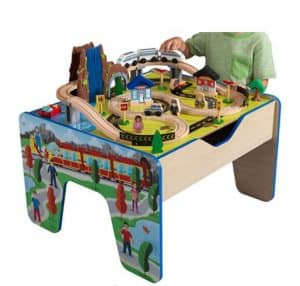 KidKraft Rapid Waterfall Wooden Train Set & Table