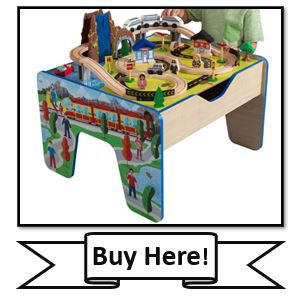 KidKraft Rapid Waterfall Wooden Train Set & Table - great small train table from KidKraft