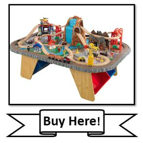 KidKraft Waterfall Junction Train Set and Table Toy - the best KidKraft Train Tables