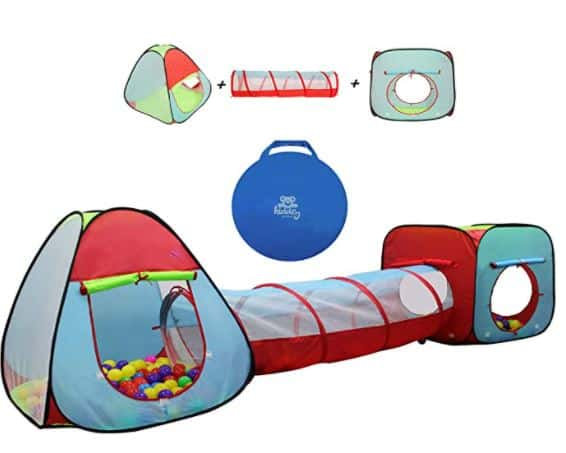 Kiddey Children's Play Tent with Tunnel (3-Piece Set)