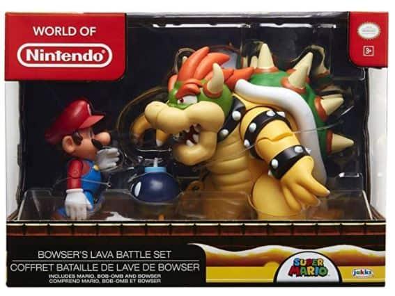 Nintendo Super Mario Bowser Vs Mario Diorama Figure
