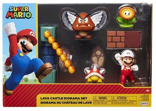 "SUPER MARIO Nintendo Lava Castle 2.5"" Figure Diorama Play Set"