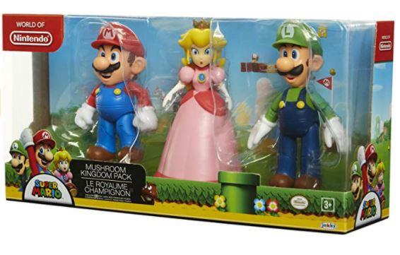 SUPER MARIO Nintendo Mushroom Kingdom Diorama Figure 3-Pack