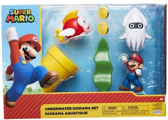 "SUPER MARIO Nintendo Underwater 2.5"" Figure Diorama Play Set"