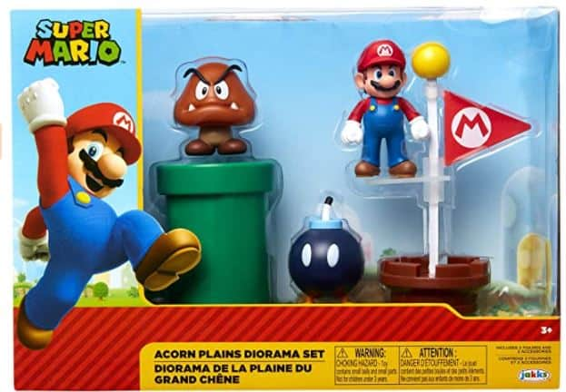 "SUPER MARIO Nintendo Acorn Plains 2.5"" Figure Multipack Diorama Set with Accessories"