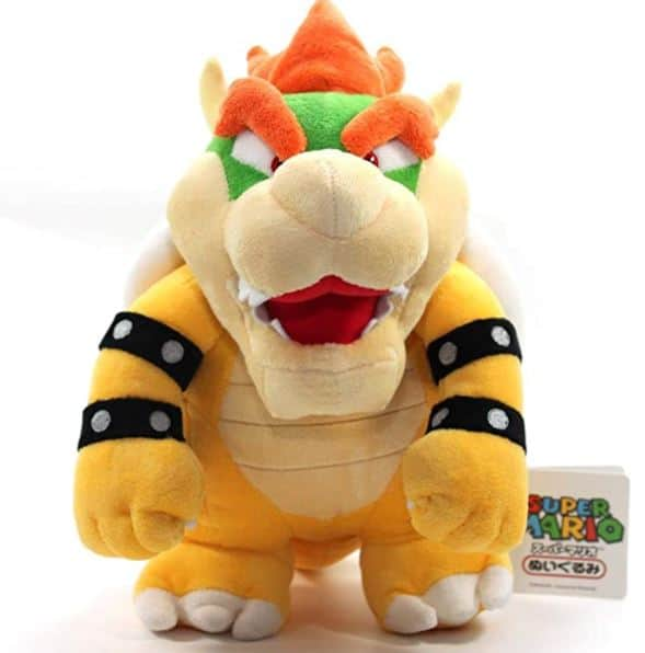 "TinTek 10"" Super Mario Brothers Standing King Bowser Soft Stuffed Animal"
