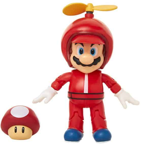 "World of Nintendo 4"" Propeller Mario Action Figure"