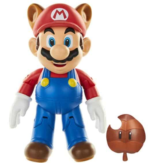 "World of Nintendo Raccoon Mario 4"" Action Figure"