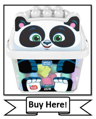 Mega Bloks Playful Panda Bucket Set