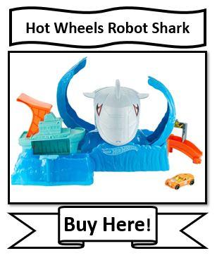 Hot Wheels City Color Changing Robot Shark Play Set