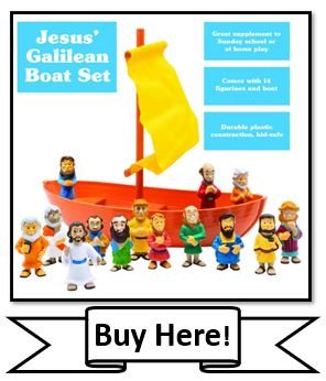 Jesus Galilee Boat Playset by BibleToys - Best Christian Toys