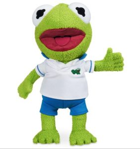 Kermit Muppet Babies Plush Stuffed Animal