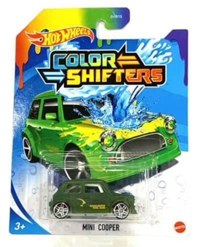 Hot Wheels Color Shifters Mini Cooper Green Yellow