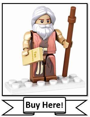 Nativity Bricks Moses Figure - Best Christian LEGO Sets