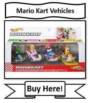 Mario Kart Hot Wheels Vehicles