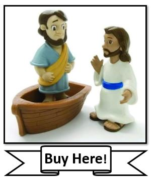 Jesus Walks on Water Bible Toy