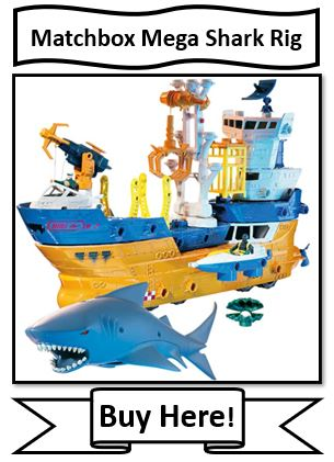 Matchbox Mega Shark Rig - awesome bath toy!