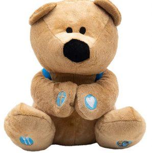 "Prayer Bear 10"" Plush Stuffed Animal with Prayer Book and Backpack"